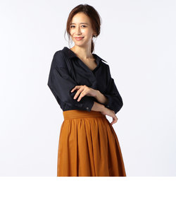 [新色追加]麻混スキッパーシャツ