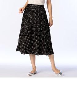 ドットプリントプリーツスカート