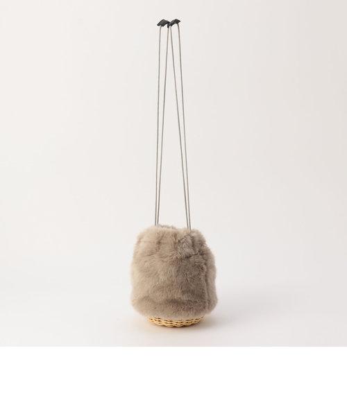 【BAGMATI/バグマティ】エコファー巾着カゴバッグ