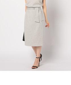 麻調合繊リボンタイトスカート