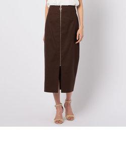 麻混ロングタイトスカート