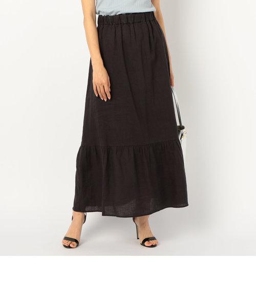 麻ティアードスカート