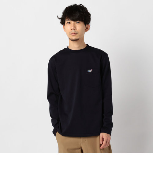 クジラ刺繍ロングスリーブTシャツ