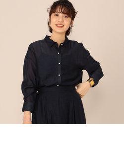 【WEB限定カラーあり】シアースラブパール釦2wayシャツ