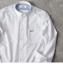 クジラ ワンポイント ボタンダウン シャツ