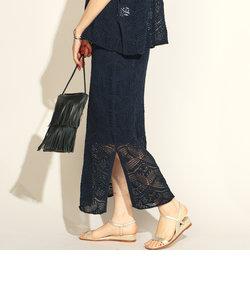 7G透かし柄スカート