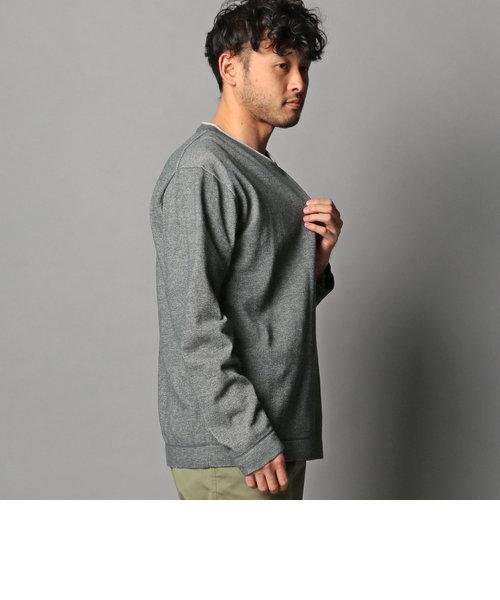 レイヤードニット Vネック プルオーバー ※Tシャツ付き