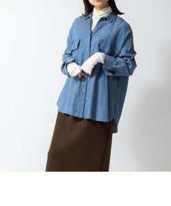 デニム調CPOシャツ