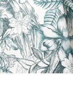花柄ショルダータックノースリーブ