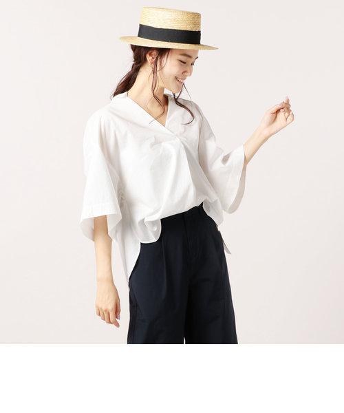 ルーズシルエットスキッパーシャツ