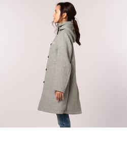 【DANTON/ダントン】(JD-8457WOM) WOOL MOSSER 丸衿フードロングコート