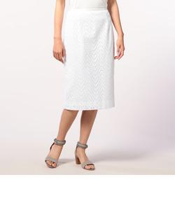 綿レースタイトスカート
