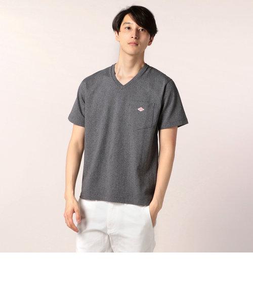 【DANTON/ダントン】 ポケットTシャツ Vネック 空紡天竺