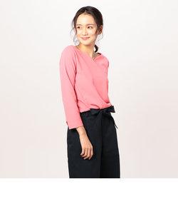 カットジョーゼット裾タックプルオーバーカットソー