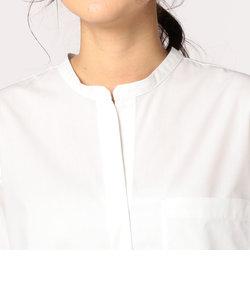 スタンドカラーシャツワンピース