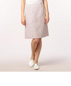ツイードポケット付きスカート