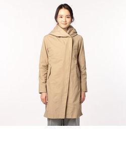 綿/ナイロンタンブラー フード付きコート