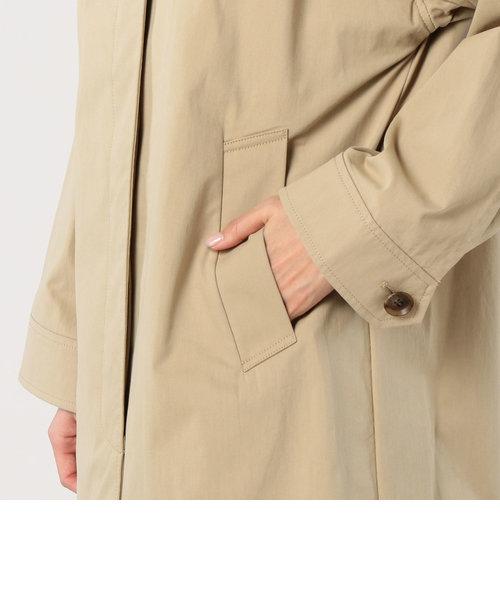 綿/ナイロンオックス ステンカラーコート