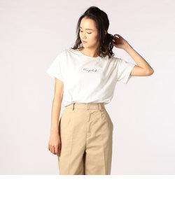 REPITプリントクルーネックTシャツ