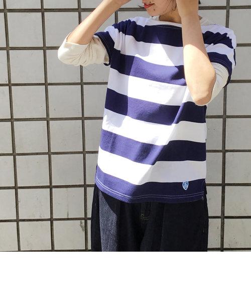 【ORCIVAL/オーシバル】(RC-6829)40/2 STRIPE ショートスリーブTシャツ