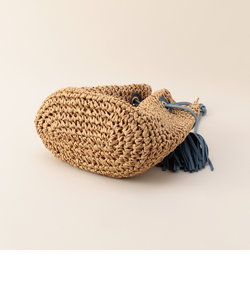 ペーパー巾着サイドフリンジバッグ