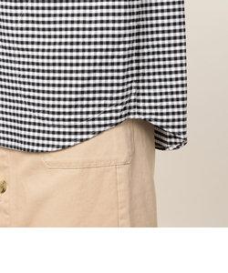 【DANTON/ダントン】丸襟半袖シャツ・柄 (#JD-3565TRD)