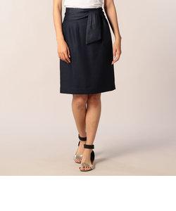 リボン付きタイトMauスカート
