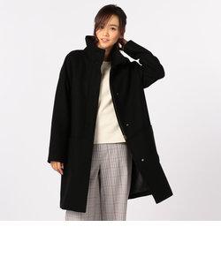 [新色追加]スタンドカラーミドル丈コート