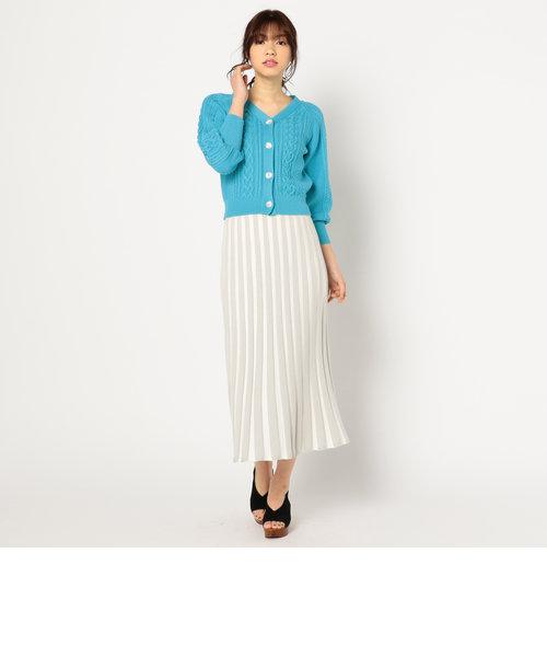 プリーツ風ニットスカート