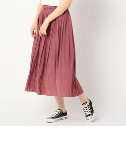 [新色追加]クラッシュサテンプリーツロングスカート