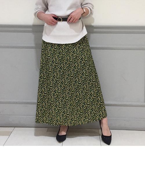 [新色追加]花柄マキシスカート