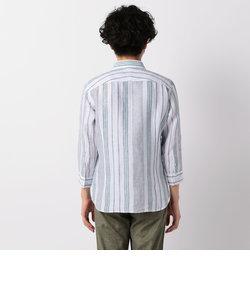 フレンチリネンパラシュート7分袖シャツ