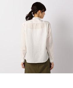 【DANTON/ダントン】LINEN CLOTHバンドカラーシャツ#JD-3606KLS