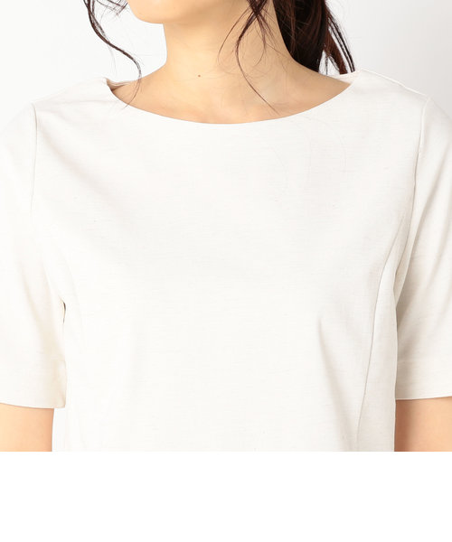 カールマイヤーリネン混5分袖プルオーバーカットソー