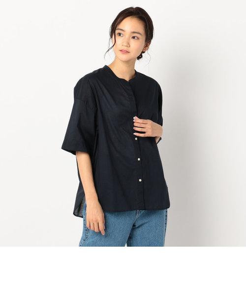バンドカラー半袖シャツ
