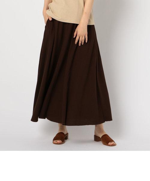 サーマルロングフレアスカート