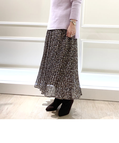 [新色追加]花びら柄プリーツスカート