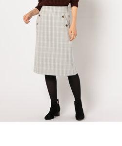 ダブルクロスチェックマリンスカート