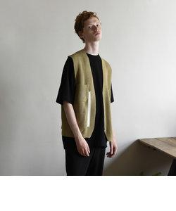 【unfil / アンフィル】シップアップ ニットベスト zipup vest #WZSP-UM207