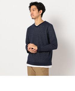 綿/麻 レイヤードニット インナーTシャツ付き
