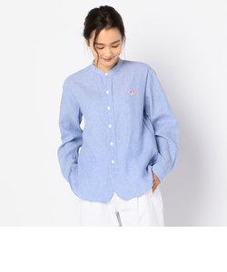 【DANTON/ダントン】LINEN SHIRTS ロングスリーブバンドカラーシャツ #JD-3606KLS