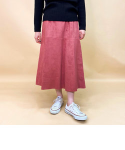 ECOスエードフレアスカート