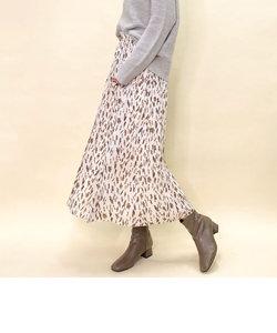 [追加]かすれプリントギャザースカート