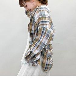 [新色追加]リネンバンドカラーシャツ