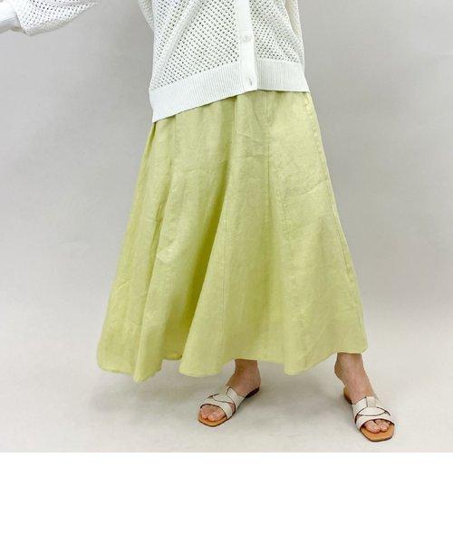 リネンパネルロングスカート
