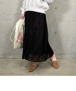 綿ローンタックギャザースカート