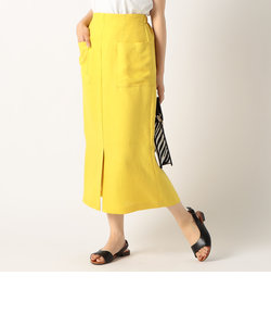 リネンライク ポケット付きスカート