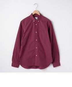 タイプライターギンガムチェックボタンダウンシャツ