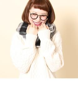 【『LEE』11月号掲載】フェザータッチチェックストール(ブラック⇒ WEB限定カラー)(マフラー)