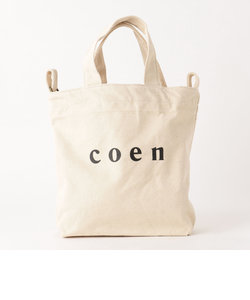 【2018SS新作 Sサイズ】coen2WAYロゴトートバッグ